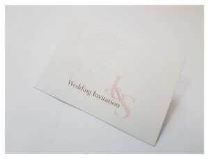 Embossed business card: custom printing watford