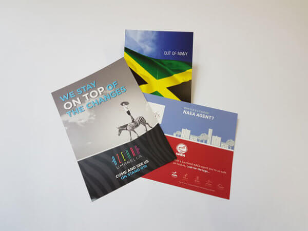 Products from the leaflet and brochure printing service