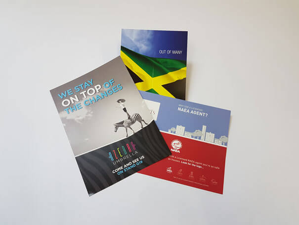 Products from the Colprint service - leaflet and brochure printing Watford