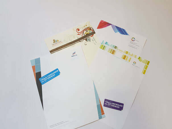 Headed and branded business stationery printing Watford
